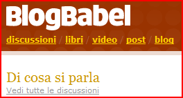 La nuova home page di BlogBabel.